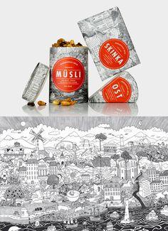 Middagsfrid. Very nice food #packaging #branding PD