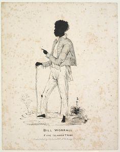 Bill Worrall, Five Islands Tribe [ca. Shared by the State Library of NSW. Australian Aboriginal History, Australian Artists, Aboriginal Culture, Aboriginal Art, Melbourne, Sydney, Van Diemen's Land, Broken Promises, South Wales