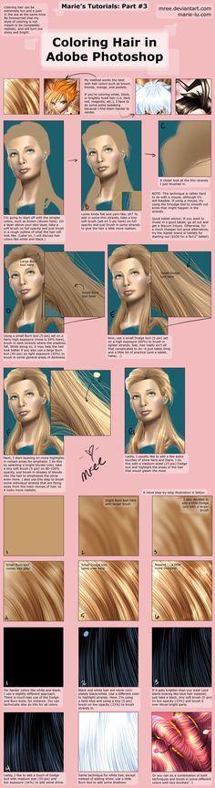 Photoshop Digital Painting Tutorial How to Create Realistic Cartoon Hair Coloring Realism
