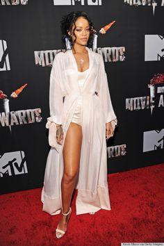 Rihanna's lingerie goodness  http://www.huffingtonpost.com/2014/04/13/rihanna-mtv-movie-awards-dress-2014_n_5144154.html?utm_hp_ref=style&ir=Style