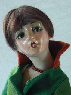 Vintage Cubeb Cigarette Smoker Boudoir Bed Flapper Doll | eBay