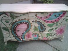 Hand Painted Furniture ~ Paisley #funkyfurniture