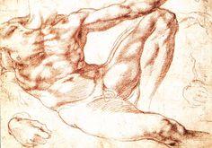 Michelangelo Sistine Chapel study - Creazione di Adamo - studio