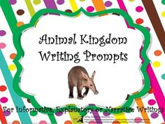 Price $3.00  Sea lion, yak,sea stars, and giant tortoise. Animal Kingdom Writing Prompts is a collection of animals from around the world. Encourage…