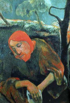 Paul Gauguin - Post Impressionism - Le Christ au Jardin des Oliviers - Jesus Christ - 1889