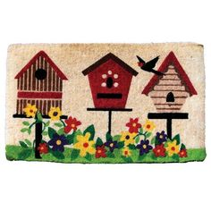 Garden Odyssey KG/CE/3S 009 FM2 Deluxe Bird House Design Coir Door Mat by Garden Odyssey. $28.50. Made of high quality construction and natural fibers. Best quality, thick coir door mat. These mats are long lasting. Measures 30-inch length by 18-inch width by 1-inch thick. FM2 deluxe bird house design coir door mat. This FM2 deluxe bird house design coir door mat is made of high quality construction and natural fibers. These mats are long lasting. Best quality, thick coir door...