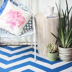 Chevron rugs go with everything
