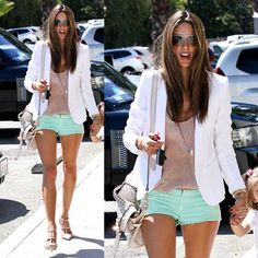 mint shorts // summer weekend ensemble