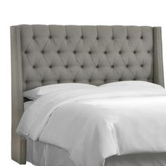 Possibility for our new headboard. I definitely love me those curved wings, not sure how I feel about these straight ones. Love the price though :)