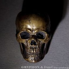 Jewelry Japan Gryphon Gryphon Anatomical Skull Ring A Brass GSDR SK07BR   eBay