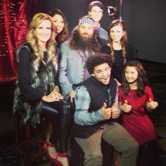Willie, Korie, Little Will, Bella, Rebecca, John Luke, and Sadie Robertson from Duck Dynasty