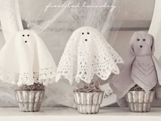 doily ghosts!