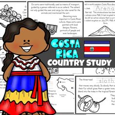 Costa Rica CountryFor Kids Costa Rica Facts, Teaching Kids, Kids Learning, Japan For Kids, Orchid Varieties, Continents And Oceans, Kingdom Of The Netherlands, South American Countries, Thinking Day