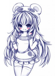 Marvelous Learn To Draw Manga Ideas. Exquisite Learn To Draw Manga Ideas. Anime Chibi, Kawaii Anime, Anime Manga, Chibi Panda, Panda Kawaii, Kawaii Girl, Anime Expo, Cartoon Drawings, Cute Drawings