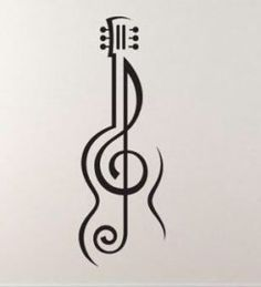Music tattoo treble cleff - Music tattoo treble cleff You are in the right place about cat tattoo Here we of - Music Drawings, Art Drawings Sketches Simple, Pencil Art Drawings, Easy Drawings, Drawing Designs, Music Tattoo Designs, Music Tattoos, Hand Tattoos, Guitar Tattoo