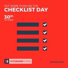Put some ticks on the Checklist Day! All icons used in the series are available in our App. Imagine what YOU could create with them!  Check out our FUTURAMO ICONS – a perfect tool for designers & developers on futuramo.com #futuramo  #futuramoapps  #futuramoicons  #futuramocalendar #icondesign  #icons  #iconsystem  #pixel #pixelperfect  #flatdesign  #ux  #ui  #uidesign  #design #developer  #webdesign  #app  #appdesign #graphicdesign