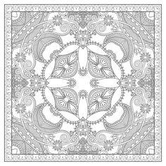 Mandala 744, Free coloring-adult-squared-mandala-by-karakotsya-2.