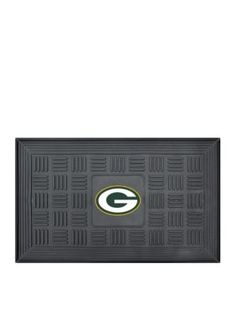 Fanmats  Nfl Green Bay Packers Medallion Door Mat - Black