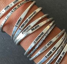 Affordable graduation jewelry gifts: Say it with a Bangle personalized bracelets by HeidijHale