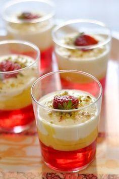 mini dessert food - jello dessert shooters
