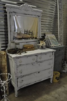 very cool distressed dresser