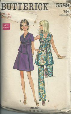 Vintage 1960s Butterick 5589 Sewing Pattern by RebekaVintage