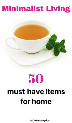 Minimalist Living - The 50 Must-Have items for home - What are the 50 items you need for home? Find out now. Ways To Save Money, Money Tips, Money Saving Tips, Minimalist Lifestyle, Minimalist Living, Grocery Savings Tips, Money Today, Declutter, Organize