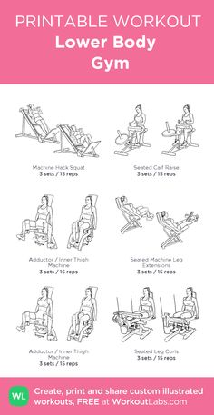 workout plan for beginners ; workout plan to get thick ; workout plan to lose weight at home ; workout plan for men ; workout plan for beginners out of shape ; Workout Plan Gym, Gym Workout Plan For Women, Gym Workout For Beginners, Gym Workouts Women, Pilates Workout, Gym Routine Women, Upper Body Workout Gym, Upper Body Workout For Women, Gym Leg Workouts