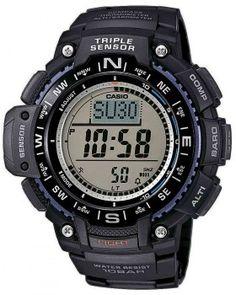 Ανδρικά Ρολόγια : CASIO Standard Chrono Black Rubber Strap SGW-1000-1AER