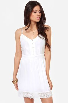 A little white dress - BB Dakota by Jack Abelia Ivory Dress at Lulus.com!