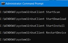 run Windows Updates from Command Line