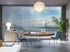 LAGO design furniture: Italian furniture, modern design L… – Table Ideas Decor Interior Design, Furniture Design, Interior Decorating, Round Wooden Dining Table, Modern Large Kitchens, Table Extensible, Italian Furniture, Design Moderne, Dining Room Design