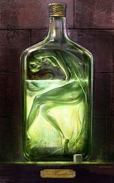 Fée et absinthe : élixir de jouvence ? Fairy and absinthe : elixir of Youth? Dark Fantasy, Fantasy Art, Absinthe Fairy, Art Noir, Illustration, Fairy Art, Magic Fairy, Mythical Creatures, Amazing Art