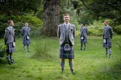 Wedding at Dunkeld House Hotel - The groomsmen in tartan Groomsmen, Tartan, Wedding Photos, Studio, Coat, House, Fashion, Marriage Pictures, Moda