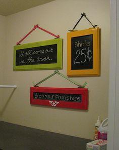 Made by Nicole: Zippy Laundry Room Decor  Cute laundry room decor idea