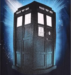 T-shirt Doctor Who Officiel - Tardis in Space Doctor Who Tardis, Licence, Officiel, Boutique, T Shirt, Doctor Who, Paris Fashion, Crate, Products