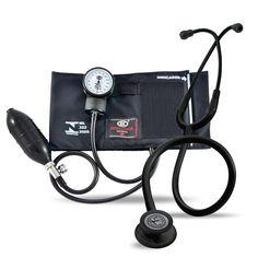 Kit Estetoscópio Littmann Classic III Black Edition + Aparelho de Pressão BIC Preto - FibraCirurgica