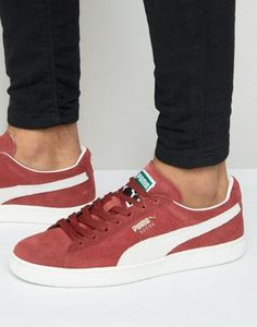 Buy Puma Suede Classic + Trainers In Red 35263475 at ASOS. With free delivery and return options (Ts&Cs apply), online shopping has never been so easy. Get the latest trends with ASOS now. Puma Sneakers, Best Sneakers, Suede Sneakers, Sneakers Fashion, Puma Suede Classic, Asos, Athletic, Classic Sneakers, Desert Boots