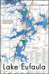 Lake Eufaula, Oklahoma ~ more shoreline than the Atlantic and Gulf coast combined!