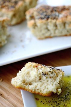 Easy Foccacia w/ Olive Oil Dipping