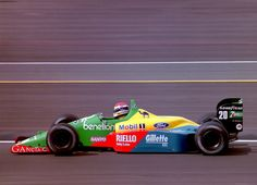 Emanuele Pirro (ITA) (Benetton Formula Ltd.), Benetton B188 - Ford-Cosworth DFR 3.5 V8 (finished 11th)  1989 British Grand Prix, Silverstone Circuit