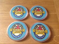 Set of 4 vintage #wrexham #lager beer mat #drinks coasters - breweriana,  View more on the LINK: http://www.zeppy.io/product/gb/2/201531416784/