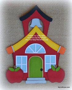 School House Premade Scrapbooking Embellishment Paper Piecing Disney Beauty And The Beast, Treasure Boxes, Box Design, Paper Piecing, Cello, Embellishments, Graduation, Scrapbook, Activities