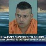 Immigration mockery: Border jumper DEPORTED 20 TIMES arrested after high-speed chase