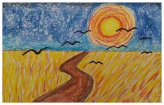 Art With Katie: Art For Kids: Van Gogh's Wheat Field with Crows