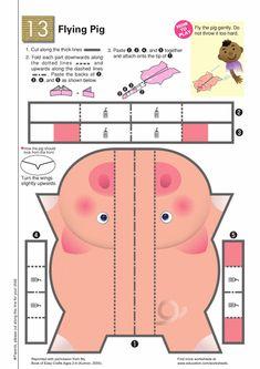 Worksheets: Paper Airplane Pig