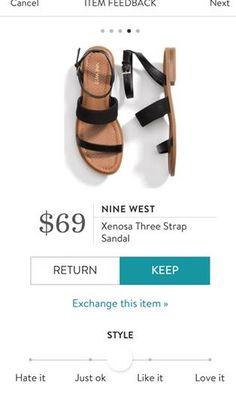NINE WEST Xenosa Three Strap Sandal from Stitch Fix. https://www.stitchfix.com/referral/4292370