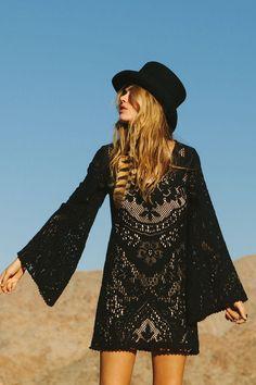 Spell Fleetwood mini dress in black
