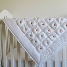 Amazing puffy quilted crib blank.