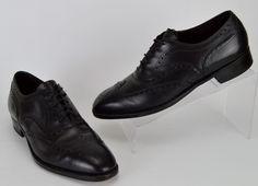 Vtg Florsheim Royal Imperial Men's Size13 Narrow  Black Leather Wingtip Oxfords #Florsheim #Oxfords